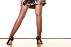 High heels shoes on female legs Stock Photography