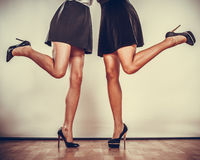High heels shoes on sexy female legs Royalty Free Stock Photos