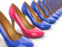High heels shoes on white background. Royalty Free Stock Photography