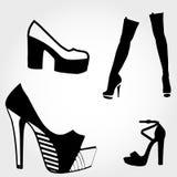 High heels silhouette Stock Photo