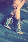 High heels sneakers Royalty Free Stock Image