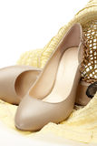 High Heels and Sun Hat Stock Photography