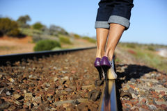 High Heels on Track Stock Images