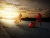 High heels walking stock photos