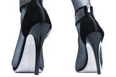 High heels on white background Royalty Free Stock Photo