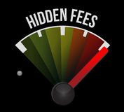 High hidden fees sign concept illustration Stock Images