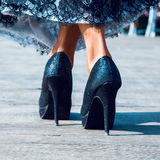 High hills shoes Royalty Free Stock Photography