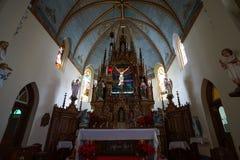 High Hills Texas Painted Church Interior