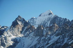High Himalayan mountain Royalty Free Stock Photo