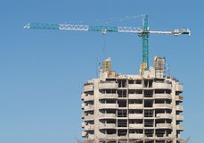 High hoisting tower crane Royalty Free Stock Image