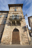 High house in Assisi Stock Image