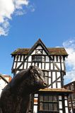 High house and bull, Hereford. Stock Images