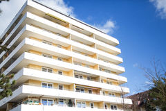 High house in germany. Apartment building appartment architecture building city clear sky condo europa flat german green heaven high house landlord live modern Royalty Free Stock Photography