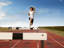 High hurdles Stock Photo