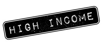 High Income rubber stamp Stock Photo