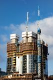 High incomplete skyscrapes under construction in Perth. Australia royalty free stock image