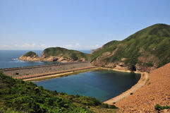 High island reservoir. Is one of hong kong's most popular geological sites Stock Photography
