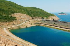 High Island Reservoir in Hong Kong Global Geo Park of China in Hong Kong, China. royalty free stock image