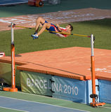 High jump. BARCELONA - JULY 28: European Athletics Championships Barcelona 2010. Decathlon High Jump. In the picture, Romain Barras (France). July 28, 2010 in Stock Photos