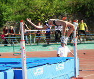 On the high jump Stock Photography