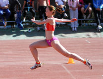 On the high jump Stock Images