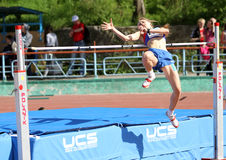 On the high jump Royalty Free Stock Photography
