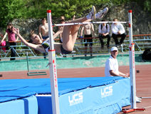 On the high jump Stock Image