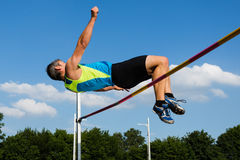 High jump. In track and field Royalty Free Stock Image