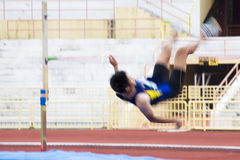 High Jump Action (Blurred) Royalty Free Stock Photography