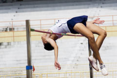High Jump Action (Blurred) Royalty Free Stock Images
