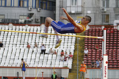 High jump athlete royalty free stock images