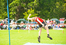 High Jump competition. Royalty Free Stock Photo