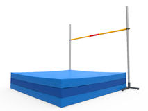 High Jump Landing Mat Stock Image