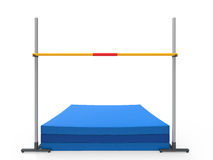 High Jump Landing Mat Stock Images