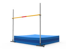 High Jump Landing Mat Royalty Free Stock Image