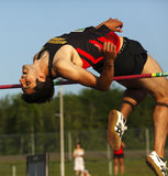High Jump Man Bar Bend Stock Photography