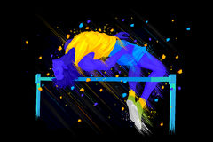 High Jump player Stock Images