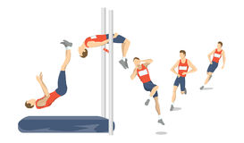 High jump set. Stock Images
