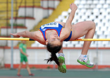 High Jump Woman Athlete Stock Photos