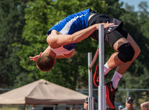 High Jumper Makes it Good Stock Photography