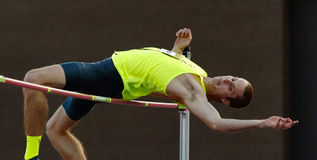 High Jumper Male Athlete Stock Photo