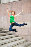 High jumping Stock Photography