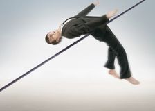 High jumping businessman Royalty Free Stock Images