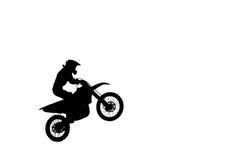 High jumping training motocross Royalty Free Stock Photo