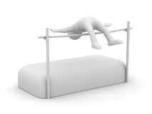 High jumps. Track and field athletics Stock Photos