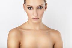 High key beautiful girl portrait. High key beautiful clean girl portrait Royalty Free Stock Photos