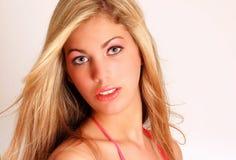 High Key Blonde Portrait Summer Tan Royalty Free Stock Photos