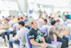 High key blurred image of passenger are waiting their flight on Stock Photo