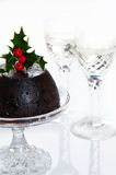 High Key Christmas Pudding Royalty Free Stock Photography