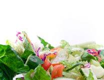 High key closeup of salad Royalty Free Stock Images